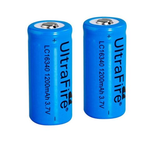2 Batterie 16340 Ultrafire